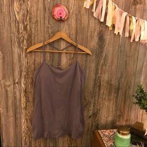 {lululemon athletica} lilac gray power yoga tank 8
